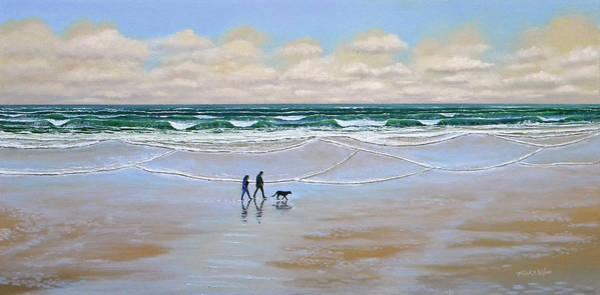 Beach Dog Walk Poster