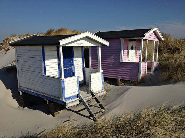 Beach Houses At Skanor Poster