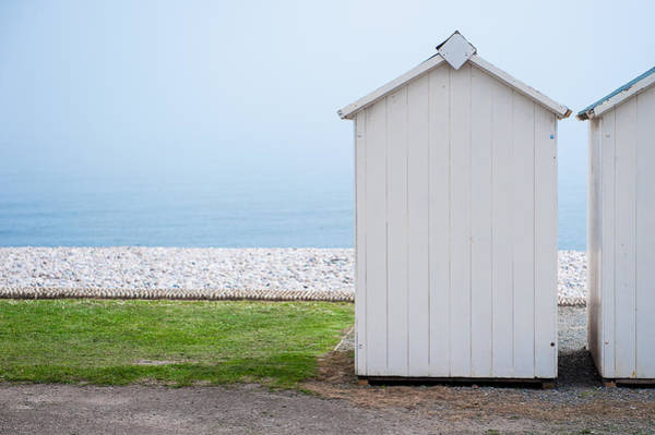Beach Hut By The Sea Poster