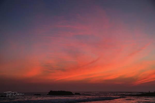 Beach Sky Blaze Poster
