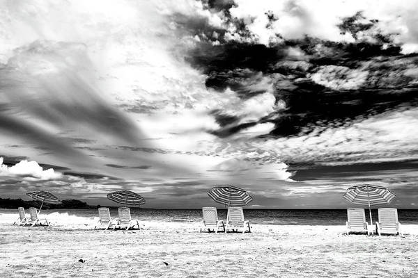 Beach Umbrellas At Red Frog Beach Panama Poster