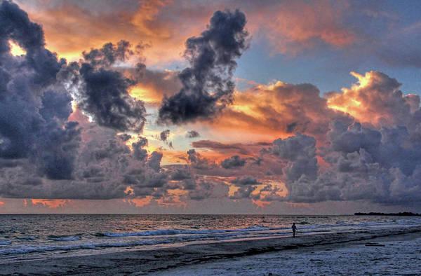 Beach Walk - Florida Seascape Poster