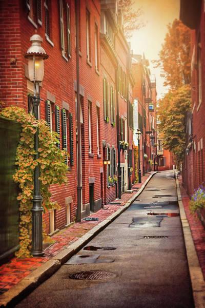 Beacon Hill Area Of Boston  Poster