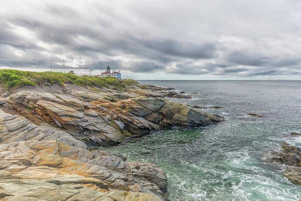 Beavertail Lighthouse On Narragansett Bay Poster