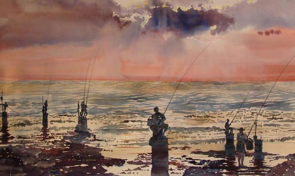 Beirut Sunset Fishing Poster