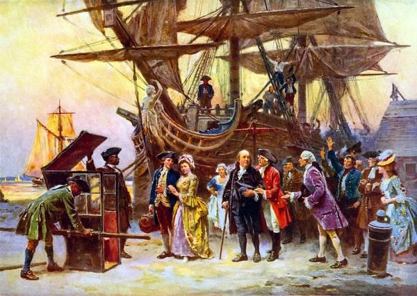 Ben Franklin Returns To Philadelphia Poster