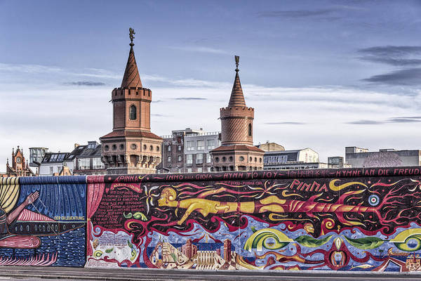 Poster featuring the photograph Berlin Wall by Juergen Held