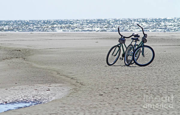 Bicycles On The Beach Poster