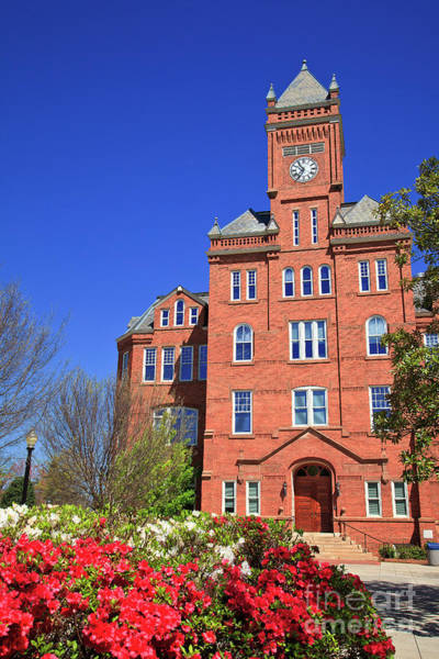 Biddle Hall In The Spring Poster
