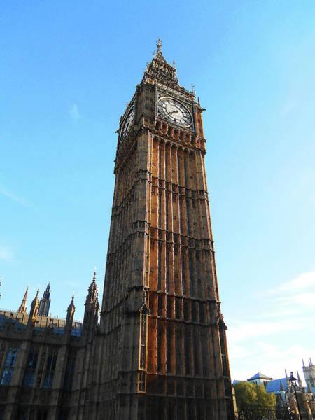 Big Ben Clock Tower At The Sunset Poster