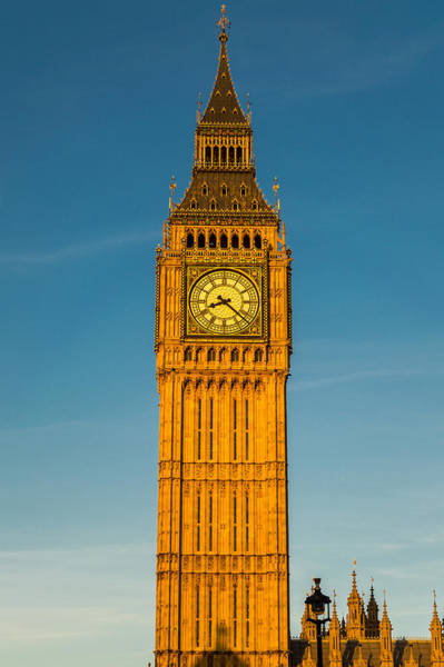 Big Ben Tower Golden Hour London Poster