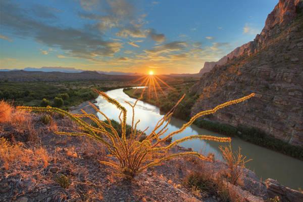 Big Bend Sunrise At Santa Elena Canyon 1 Poster