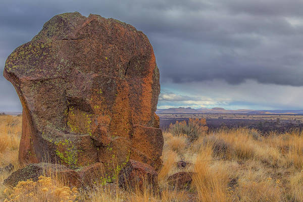 Big Rock At Lava Beds Poster
