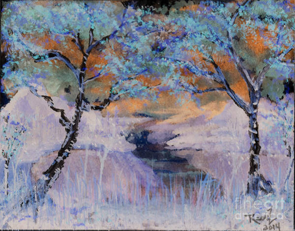 Birch Trees On The Ridge 2 Poster