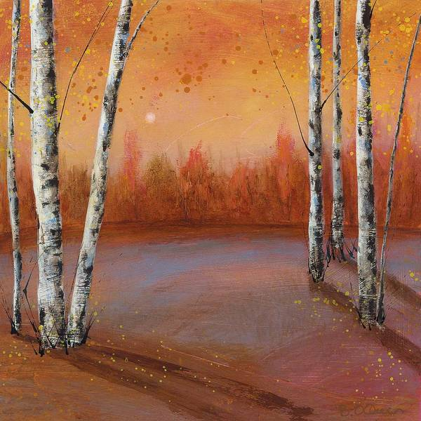Birches In The Fall Poster