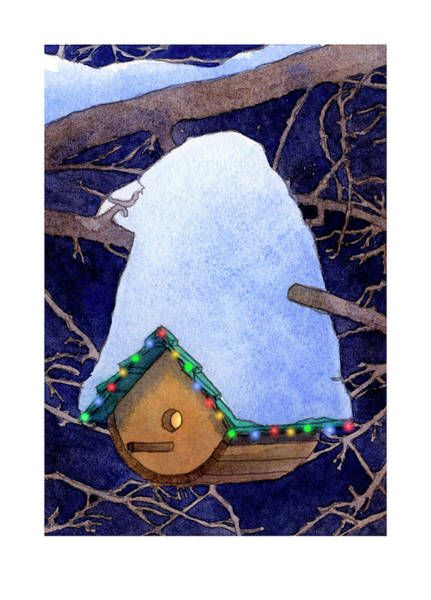 Bird House Christmas Poster