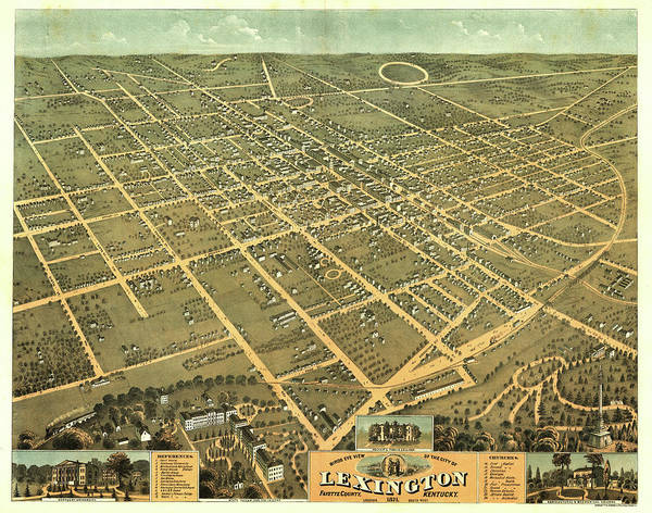 Bird's Eye View Of The City Of Lexington, Fayette County, Kentucky 1871 Poster