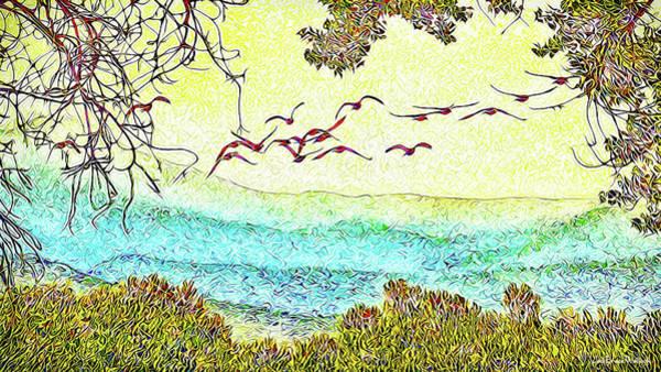 Birds Over Horizon - Boulder County Colorado Poster