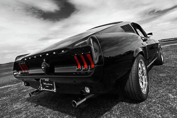 Black 1967 Mustang Poster