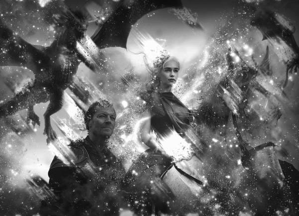 Black And White Games Of Thrones Another Story Poster