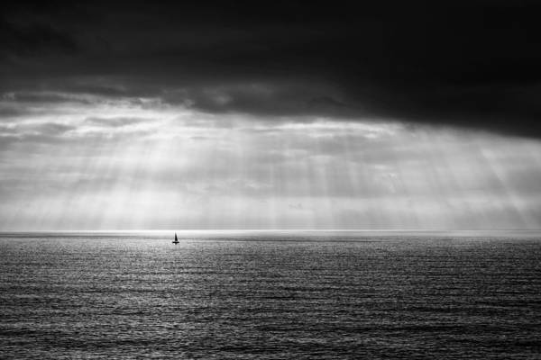 Poster featuring the photograph Black And White Seascape by Mirko Chessari