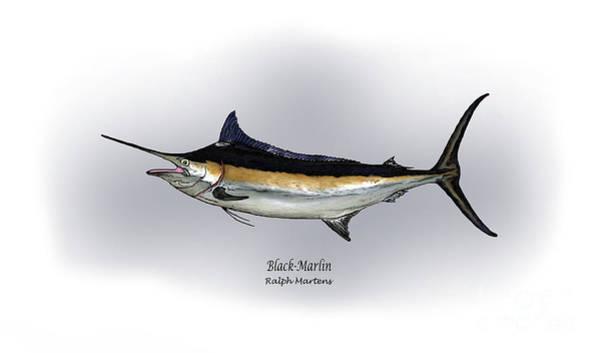 Black Marlin Poster