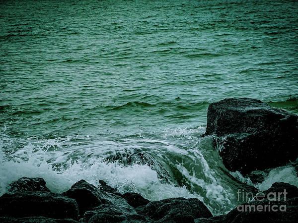 Black Rocks Seascape Poster