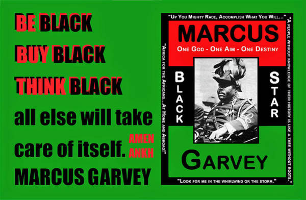 Black Star Garvey Poster