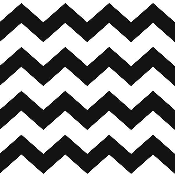 Black White Geometric Pattern Poster