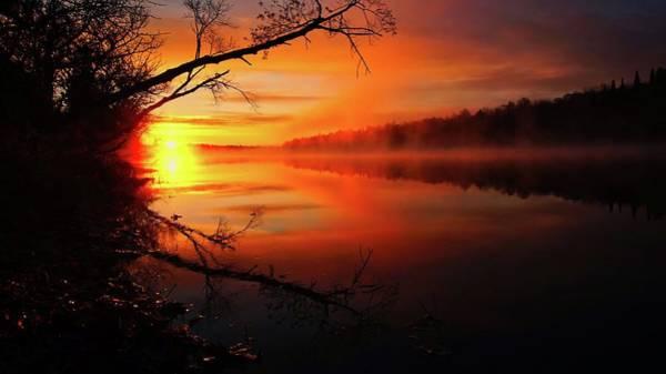 Blind River Sunrise Poster
