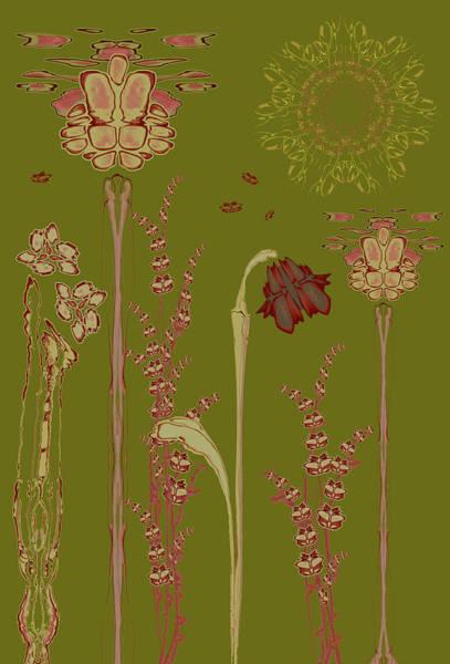Blob Flower Garden Poster