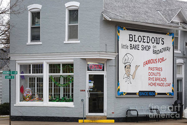 Poster featuring the photograph Bloedow's Bakery Winona Mn by Kari Yearous