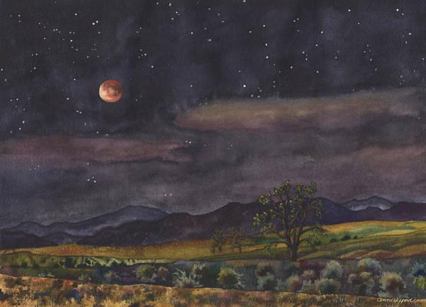 Blood Moon Over Boulder Poster