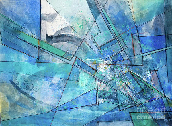 Blue Abstract  Poster
