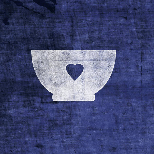 Blue And White Bowl- Art By Linda Woods Poster
