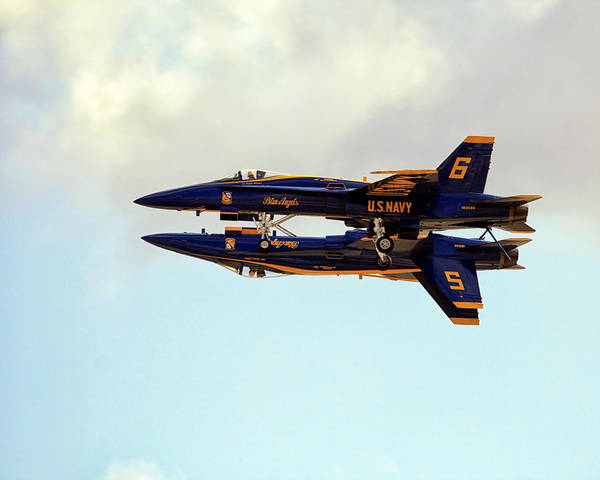 Poster featuring the photograph Blue Angels 1 by Gigi Ebert