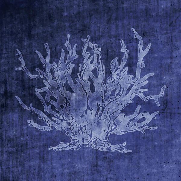 Blue Coral- Art By Linda Woods Poster