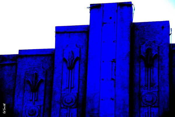 Blue Deco Poster