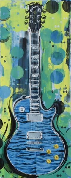 Blue Gibson Guitar Poster