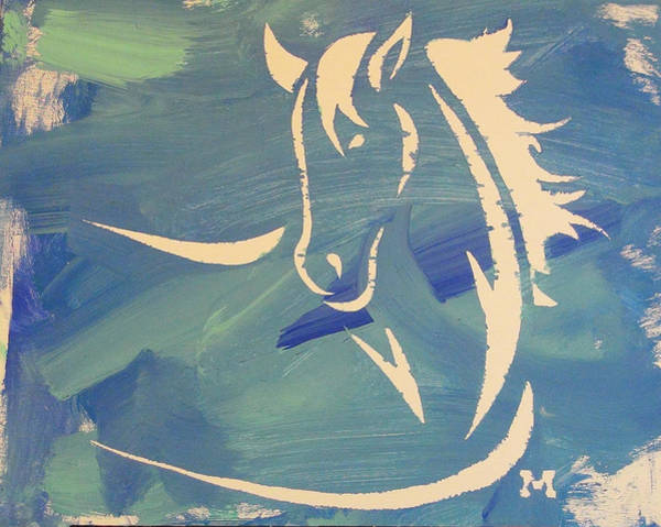 Blue Horse Sky Poster