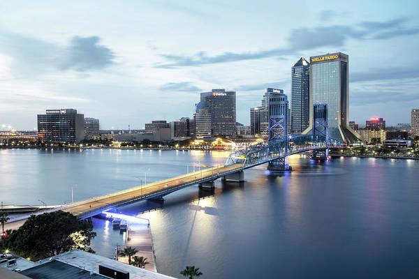 Blue Hour In Jacksonville Poster