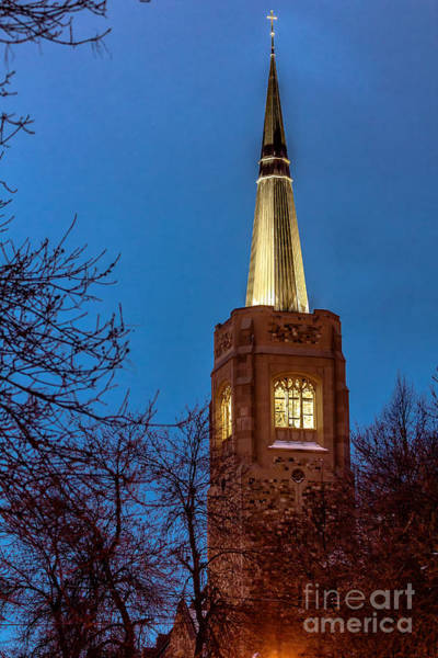 Blue Hour Steeple Poster