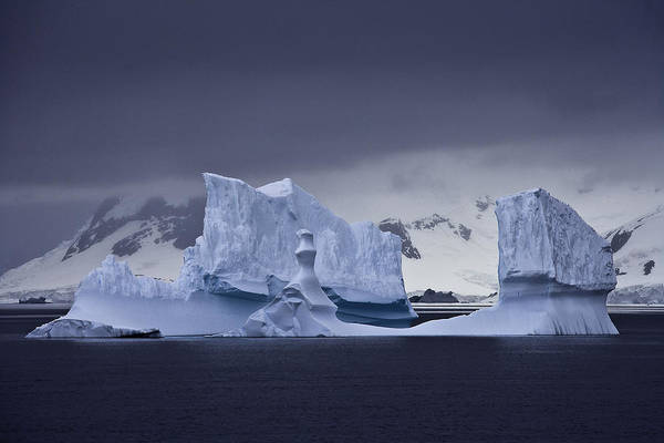 Blue Ice Antarctica Poster