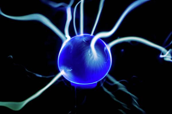 Blue Plasma Poster