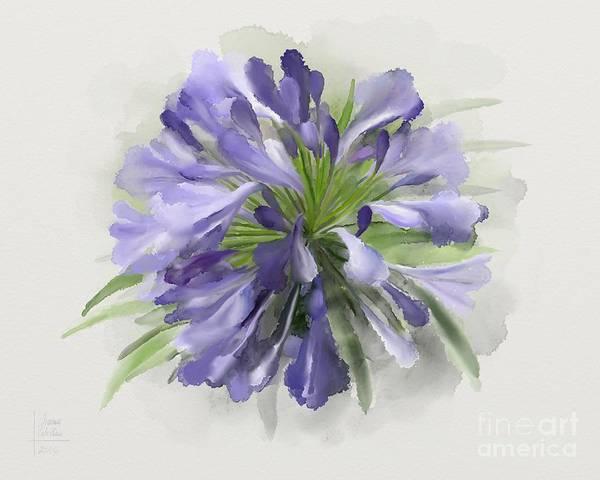 Blue Purple Flowers Poster
