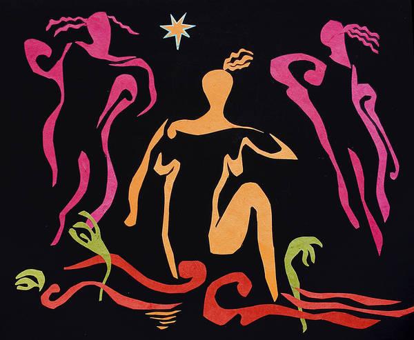 Blue Star Dancing Scissors Poster
