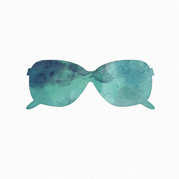 Blue Sunglasses 1- Art By Linda Woods Poster