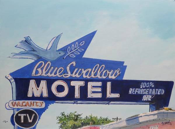 Blue Swallow Poster