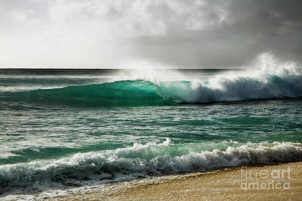 Blue Translucent Wave Poster
