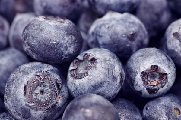 Blueberry Macro Poster